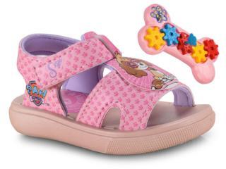 Sandália Fem Infantil Grendene 22007 24831 Patrulha Canina Engrenagens Rosa/violeta - Tamanho Médio