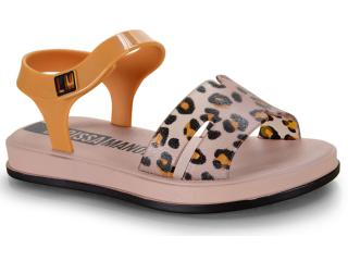 Sandália Fem Infantil Grendene 22156 25117 Larissa Manoela Vip Flat Rosa/preto/amarelo - Tamanho Médio