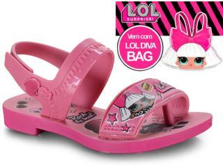 Sandália Fem Infantil Grendene 22117 24308 Diva Bag Sand Rosa Escuro/rosa - Tamanho Médio