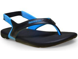 Sandália Masculina Havaianas Action  Preto/azul - Tamanho Médio