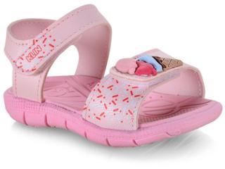 Sandália Fem Infantil Klin 711.108 Rosa Claro - Tamanho Médio
