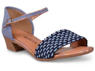 Sandália Feminina Mississipi X6954 Jeans - Tamanho Médio