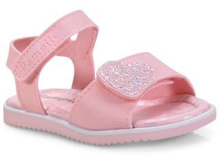Sandália Fem Infantil Pampili 127.034 Rosa Glace - Tamanho Médio