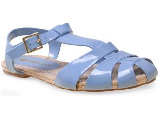 Sandália Feminina Petite Jolie Pj1341 Azul Picina - Tamanho Médio