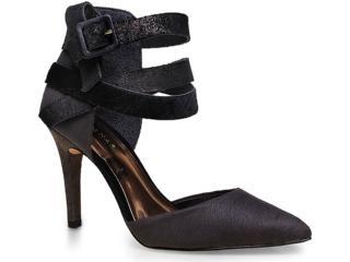 Sapato Feminino Tanara 6882 Cinza/preto - Tamanho Médio