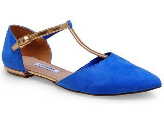 Sandália Feminina Via Marte 14-14703 Azul Bic/ouro - Tamanho Médio
