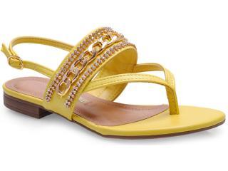 Sandália Feminina Via Marte 14-22102 Amarelo - Tamanho Médio
