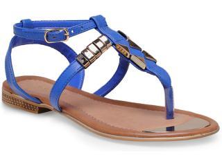 Sandália Feminina Via Marte 14-21601 Azul Bic - Tamanho Médio