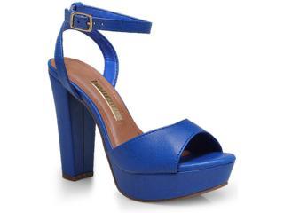Sandália Feminina Via Marte 14-21772 Azul Bic - Tamanho Médio