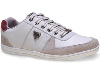 Sapatênis Masculino Cavalera Shoes 13.01.1056 Gelo/vinho - Tamanho Médio