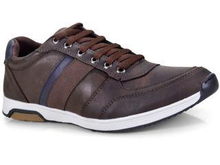 Sapatênis Masculino Ped Shoes 15050-b Café Kit c/ Relogio - Tamanho Médio