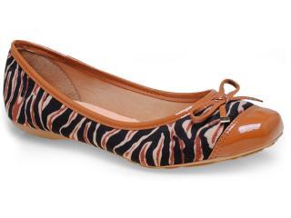 Sapatilha Feminina Bottero 214301 Zebra/caramelo - Tamanho Médio