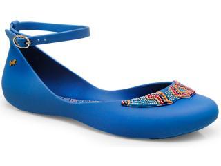 Sapatilha Feminina Grendene 16618 Zaxy Look Sap ad Azul/rosa - Tamanho Médio
