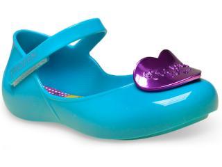 Sapatilha Fem Infantil Grendene 21433 Disney Kisses Azul - Tamanho Médio