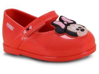 Sapatilha Fem Infantil Grendene 22013 50962 Disney Minnie Petit Vermelho/rosa - Tamanho Médio