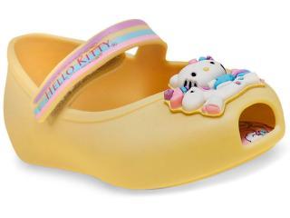 a98f6f42f9 Sapatilha Fem Infantil Grendene 21480 Hello Kitty Criaturas Magicas Amarelo  Opaco