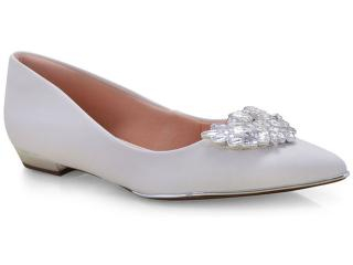 Sapatilha Feminina Invoice 104.755 Branco/prata - Tamanho Médio