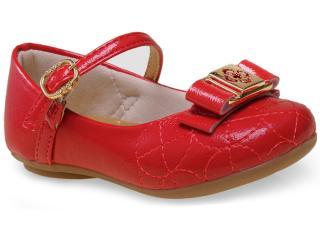 Sapatilha Fem Infantil Klin 110.062 Vermelho - Tamanho Médio