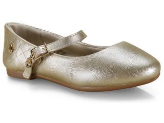 Sapatilha Fem Infantil Klin 151.117 Dourado - Tamanho Médio