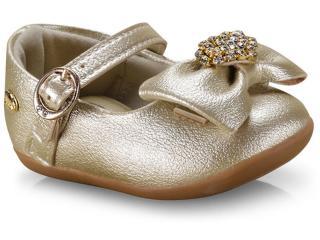 Sapatilha Fem Infantil Klin 125.108 Dourado - Tamanho Médio