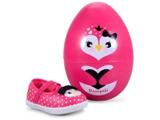 Sapatilha Fem Infantil Pampili 108.092 Pink Batom - Tamanho Médio