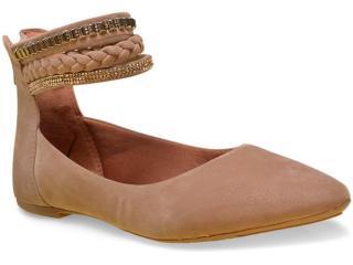 Sapatilha Feminina Sass 122.5060 Camel - Tamanho Médio