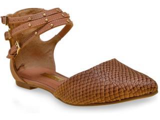 Sapatilha Feminina Via Marte 16-3203 Camel - Tamanho Médio