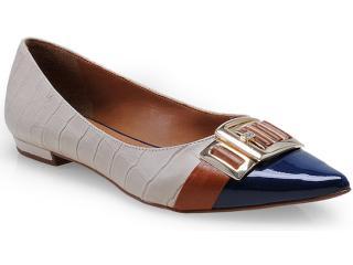Sapato Feminino Seculo Xxx 98210690 Aveia/cobalto/caramelo - Tamanho Médio