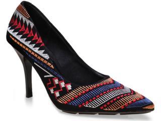 Sapato Feminino Beira Rio 4122101 Preto Estampado - Tamanho Médio