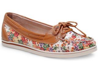 Sapato Feminino Bottero 216001 Off White/caramelo - Tamanho Médio
