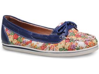 Sapato Feminino Bottero 226801 Off White/marinho - Tamanho Médio