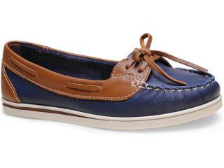 Sapato Feminino Bottero 226801 Marinho/canela - Tamanho Médio