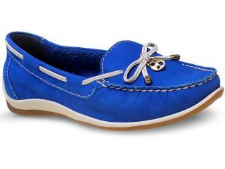 Sapato Feminino Bottero 239801 Azul Royal/off White - Tamanho Médio