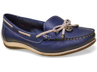 Sapato Feminino Bottero 250001 Jeans/bege - Tamanho Médio