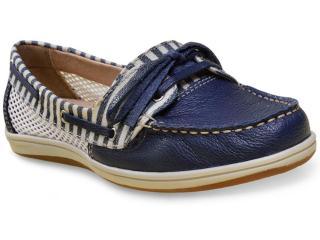 Sapato Feminino Bottero 256801 Marinho/branco - Tamanho Médio