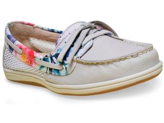 Sapato Feminino Bottero 256801 Off White/floral - Tamanho Médio