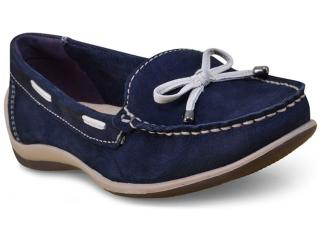 Sapato Feminino Bottero 268801 Marinho/off White - Tamanho Médio