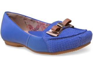 Sapato Feminino Campesi 5073 Azul Klein - Tamanho Médio