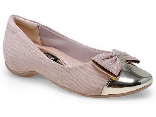 Sapato Feminino Comfortflex 14-94304 Zebra Nude - Tamanho Médio