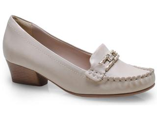 Sapato Feminino Comfortflex 14-66405 Off White - Tamanho Médio
