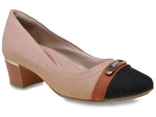 Sapato Feminino Comfortflex 15-95314 Avelã/preto/pinhao - Tamanho Médio