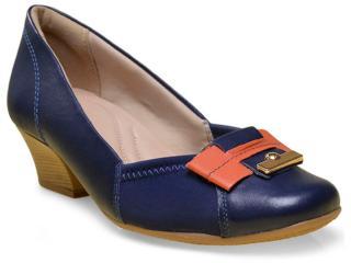 Sapato Feminino Comfortflex 16-95303 Marinho - Tamanho Médio