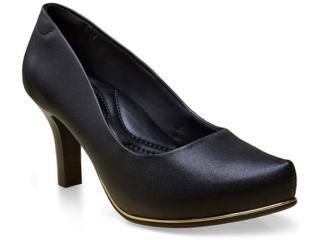 Sapato Feminino Comfortflex 16-85301 Preto - Tamanho Médio