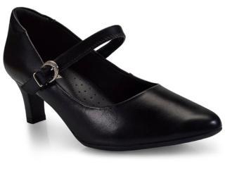 Sapato Feminino Comfortflex 17-81403 Preto - Tamanho Médio