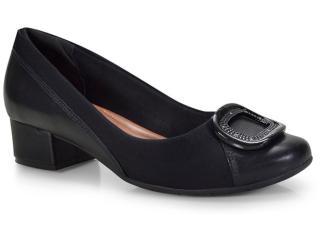 Sapato Feminino Comfortflex 18-95305 Preto - Tamanho Médio