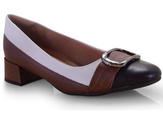 Sapato Feminino Comfortflex 19-95303 Preto/tan - Tamanho Médio