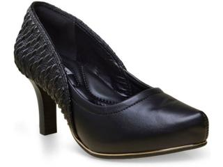 Sapato Feminino Comfortflex 16-85306 Preto - Tamanho Médio