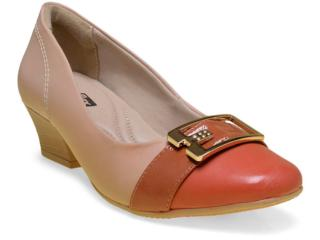 Sapato Feminino Comfortflex 16-95302 Telha - Tamanho Médio
