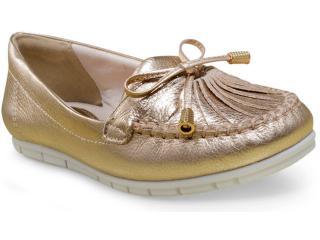 Sapato Feminino Comfortflex 17-73305 Ouro - Tamanho Médio