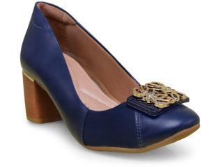Sapato Feminino Comfortflex 17-67307 Marinho - Tamanho Médio
